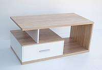 Журнальний стіл ВМВ Ся 110х50х55 дуб сонома/білий