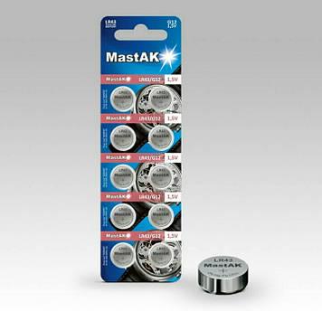 Батарейка часовая MastAK LR1142 ( 386 )