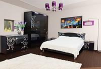 Фелиция Новая Спальня Світ Меблів черний глянец
