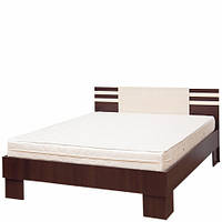 Ліжко полуторне Світ Меблів Елегія (+каркас) 140×200 лімба шоколад/клен, фото 1
