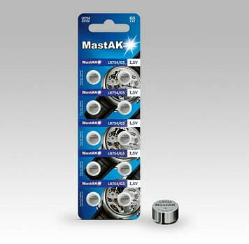 Батарейка часовая MastAK LR754 (393, AG5)
