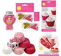 Набор для украшения капкейков Wilton Valentine´s Day Glitter Cupcake