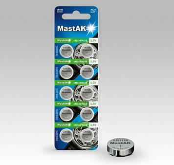 Батарейка часовая MastAK LR1130 ( 389, 189, 390, AG10 )