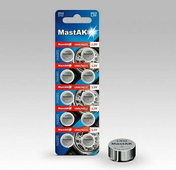 Батарейка часовая MastAK LR1154 ( 357, AG13,LR44, SR44 )