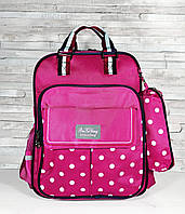Школьный ортопедический рюкзак-сумка с пеналом детский розовый портфель ранец для девочки 7-8-9-10 лет