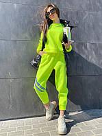 Плотный женский спортивный костюм со штанами на манжетах 71msp887, фото 1