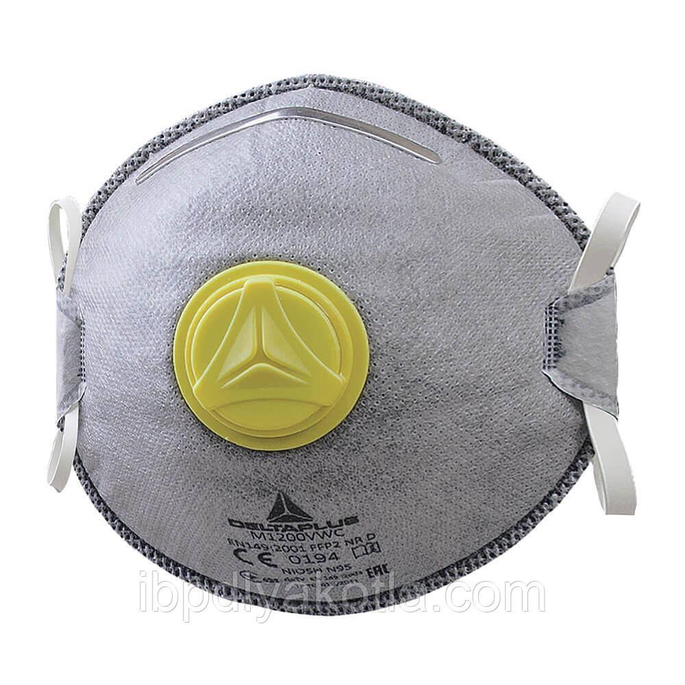 Защитная маска респиратор DELTA PLUS M1200VW FFP2 с клапаном, NIOSH N95