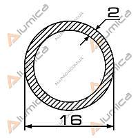 Труба алюминиевая круглая 16х2 мм без покрытия ПАС-1708 (БПЗ-0547)