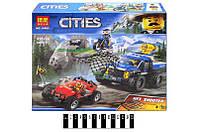 """Конструктор Лего Конструктор """"CITIES"""" """"Погоня на грунтовій дорозі"""" 315дет. 10862 р.31*28*6,5см"""
