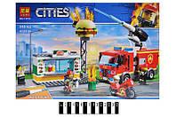 """Конструктор Лего Конструктор """"CITIES"""" """"Пожежа в бургер-кафе"""" 345дет. 11213 р.39*27*6см."""