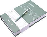 Набор Caran d'Ache Ручка 849 Оливковая + Блокнот в Подарочном боксе (CC0849.116) (7630002334488)
