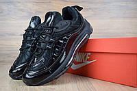 Женские кроссовки Nike Air Max 98 Supreme, черные. Код товара ОД - 2636