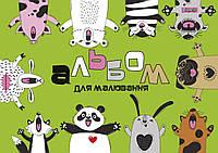 Альбом для рисования А4 12л/100 скоба, с перфорацией 1В (м)