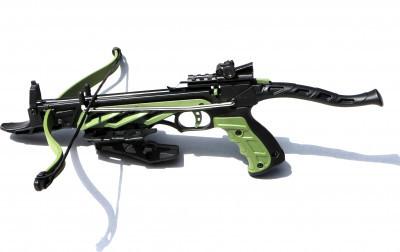 Арбалет-пістолет MAN KUNG MK-TCS1-G самозарядний, 3 алюмінієвих стріли, зелений (DA)