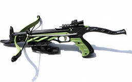 Арбалет-пистолет MAN KUNG MK-TCS1-G самозарядный, 3 алюминиевых стрелы, зеленый (DA)