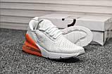 Кроссовки Nike Air Max 270 White Orange, фото 3