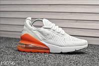 Кроссовки Nike Air Max 270 White Orange, фото 1
