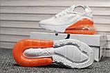 Кроссовки Nike Air Max 270 White Orange, фото 4