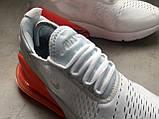 Кроссовки Nike Air Max 270 White Orange, фото 9