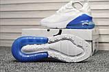 Кросівки Nike Air Max 270 White Blue, фото 3