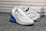 Кросівки Nike Air Max 270 White Blue, фото 5
