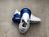 Кросівки Nike Air Max 270 White Blue, фото 7