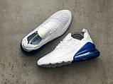 Кросівки Nike Air Max 270 White Blue, фото 9