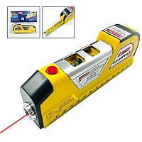 Лазерный уровень нивелир Laser Level Pro 3 +рулетка 2,5м+лазер, фото 1