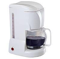 Кофеварка капельная MAESTRO MR-401 белая   кофемашина Маэстро, Маестро (800 Вт, на 10-12 чашек, с подсветкой)
