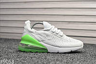 Кроссовки Nike Air Max 270 White Green, фото 1