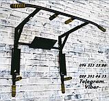 Турник-брусья-пресс SAB-Building настенный цельный 4 в 1 Атлет черный цвет, фото 3