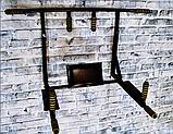 Турник-брусья-пресс SAB-Building настенный цельный 4 в 1 Атлет черный цвет, фото 4