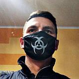 Маска мужская | женская защитная тканевая Сlasp xx black, фото 3