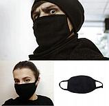 Маска мужская | женская защитная тканевая Сlasp xx black, фото 8