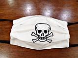 Маска белая защитная хлопковая, с марлевой мембраной 5 слоев защиты, многоразовая, выбор рисунков, фото 5