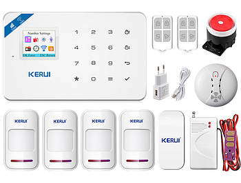 Комплект сигнализации Wi-Fi Kerui W18 для 3-комнатной квартиры prof (YDYGWE5438DHC)