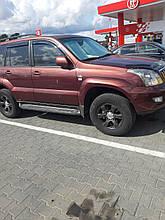 Дефлекторы окон (ветровики) Toyota LC 120 / GX470 2003-> 4D 4шт (HIC)