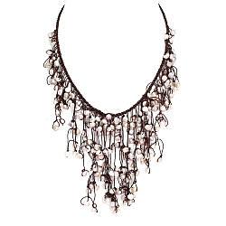 Ожерелье с натуральным белым Жемчугом