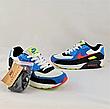 Кроссовки женские синие в стиле Nike Air Max. Кроссовки женские из эко кожи. Кеды женские. Мокасины женские, фото 2
