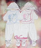 Детский костюм Крестильный с накатом интерлок бел.