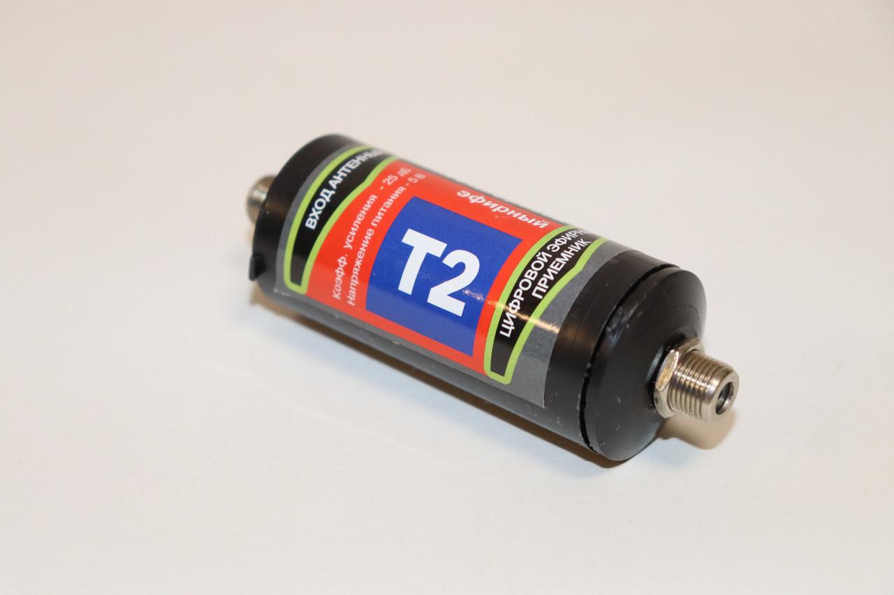 Антенний підсилювач DVB-T2 (25 db, 5 V) пластиковий корпус