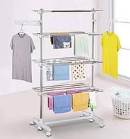 Сушилка для вещей | Складная сушилка для белья Garment Rack With Wheels