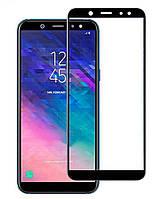 Защитное стекло 2.5D для Samsung A605 (2018) Galaxy A6 Plus Full Glue (0.3mm, 2.5D, с олеофобным покрытием) Черный