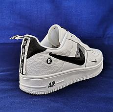 Кроссовки женские белые в стиле Nike Air Force. Кроссовки женские из эко кожи. Кеды женские. Мокасины женские, фото 3