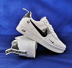 Кроссовки женские белые в стиле Nike Air Force. Кроссовки женские из эко кожи. Кеды женские. Мокасины женские, фото 2