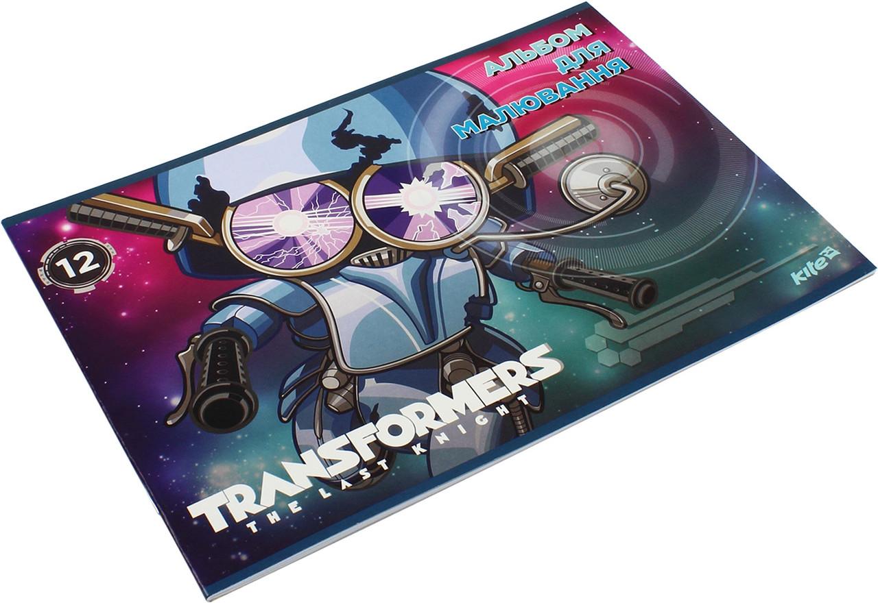 "Альбом для малюв. на скобі 12/120 А4 ""Kite"" УФ-лак Transformers №TF17-241(20)"