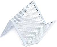 """Підставка для візиток метал. """"Axent"""" №2114-21 95х80х60мм,біла(12)"""