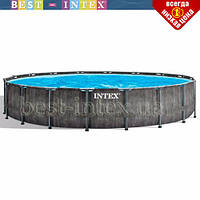 Круглый каркасный бассейн Intex 26744 (549-122 см) GreyWood Prism Frame Pool, фото 1