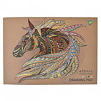 "Альбом для малюв. склейка 40/100 ""Yes"" Ethnic horse крафт №130410(6)"