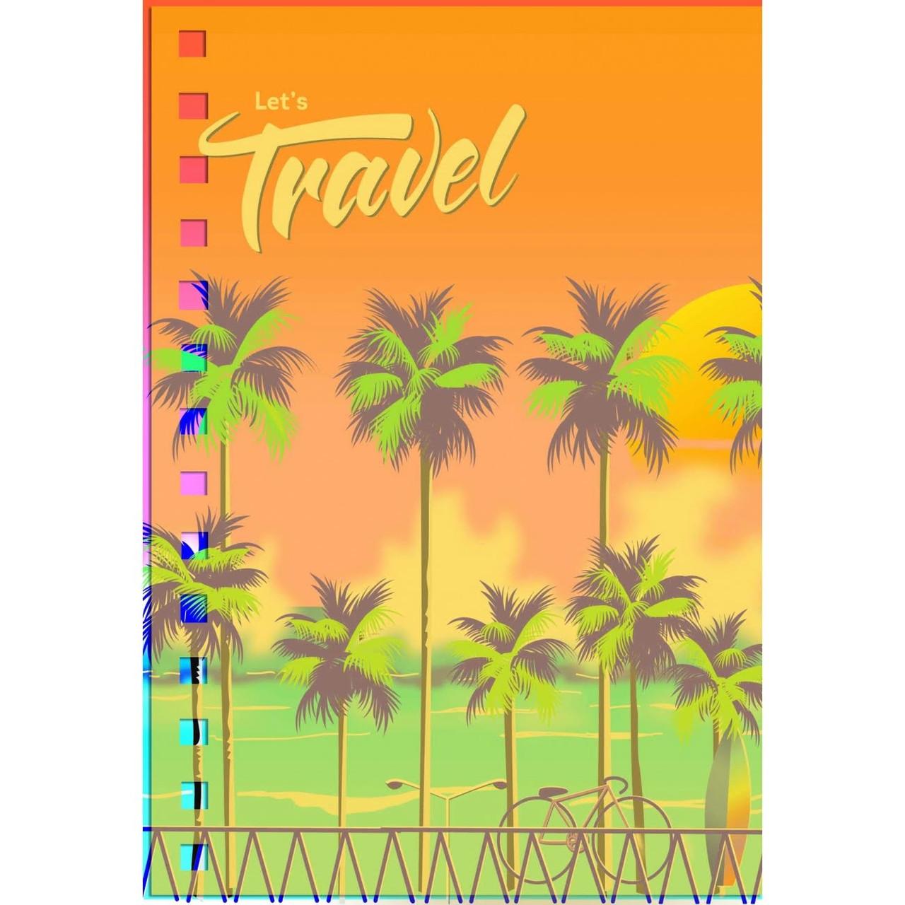 Блокнот пруж. B6 144арк. пласт. обкл. Tropical view №681515/Yes/(3)